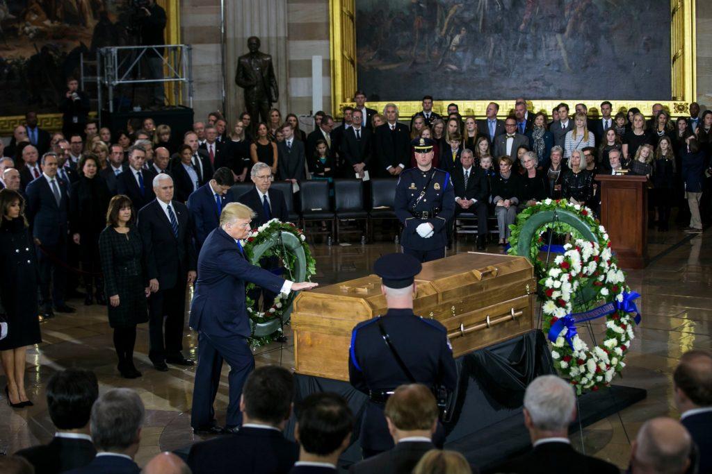 Trump interviene al memoriale di Billy Graham